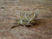 liść ze stali nierdzewnej