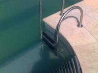 drabinka basenowa ze stali kwasoodpornej